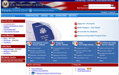 US Government Passport Information